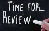 Time for review — Stockfoto