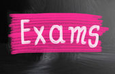 Exams handwritten with chalk on a blackboard — Stock Photo