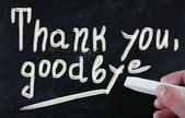Thank you, goodbye — Stock Photo