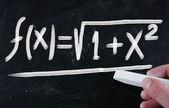 Math on blackboard — Stock Photo