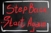 Start again concept — Stock Photo