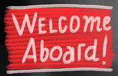Welcome aboard concept — Stock Photo