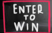Enter to win concept — ストック写真
