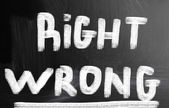 Right wrong concept — Foto de Stock