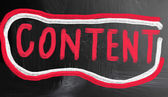 Content handwritten with chalk on a blackboard — Foto de Stock