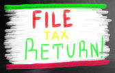 File tax return concept — Stock Photo