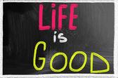 Life is good — Stock Photo