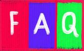 Faq concept — Stock Photo