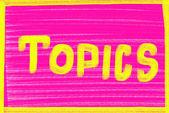 Themen-Konzept — Stockfoto