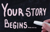 Your story begins... — Foto Stock