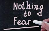 Ничего не бояться — Стоковое фото