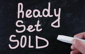 Ready set sold — Stock Photo
