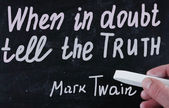 When in doubt tell the truth — Stock Photo