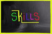 Skills concept — Stock Photo