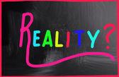 Reality concept — Stock Photo
