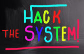 Hack the system! — Stock Photo