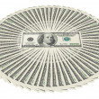 Stock Photo: Heap of dollar bank notes