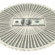 Heap of dollar bank notes — Stock Photo