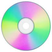 Cd eller dvd på vit — Stockfoto