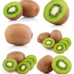 Set of kiwi fruits with slices — Stock Photo #14641841