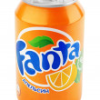 Aluminum can of Fanta - Stock Photo