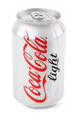 Aluminum can of Coca-Cola Light — Stock Photo