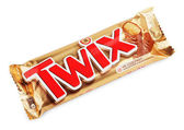 Twix candy chocolat bar — Stock Photo