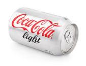 Aluminum can of Coca-Cola Light — Stock Photo