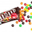 Stock Photo: Unwrapped M&M's milk chocolate candies