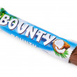 Unwrapped Bounty candy chocolate bar — Stock Photo #18804477
