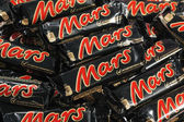 Many Mars chocolate bars — Stock Photo