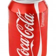 Stock Photo: Aluminum red cof Coca-Cola