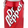 Aluminum red cof Dr Pepper — Stock Photo #19187487