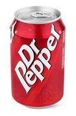 Aluminum red can of Dr Pepper — Stock Photo