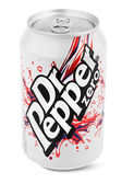 Aluminum silver can of Dr Pepper — Stock Photo