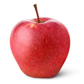 Red apple isolated on white — Stock Photo