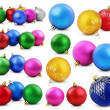 set of colorful christmas balls — Stock Photo