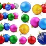 Set of colorful christmas balls — Stock Photo
