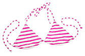 Striped pink swimming suit — Stock Photo