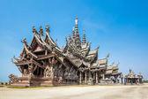 Santuário da verdade em pattaya, tailândia — Fotografia Stock