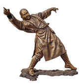 Shaolin warriors monk bronze statue — Foto de Stock