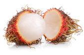 Frutas rambutan isoladas no branco — Fotografia Stock