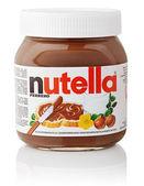 Nutella hazelnut chocolate sprea — Stock Photo