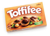 Box of Toffifee candies — Stock Photo