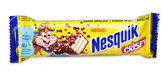 Nesquik Crispy Chocolate Candy Bar — Stock Photo