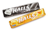 Mentholated cough drop Halls — Stock Photo