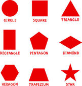 Basic Geometric Shapes with Captions — 图库矢量图片