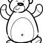 Teddy bear cartoon for coloring book — Stock Vector #12247246