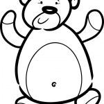 Teddy bear cartoon for coloring book — Stock Vector