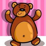 Cute teddy bear cartoon in room — Stock Vector #12247261